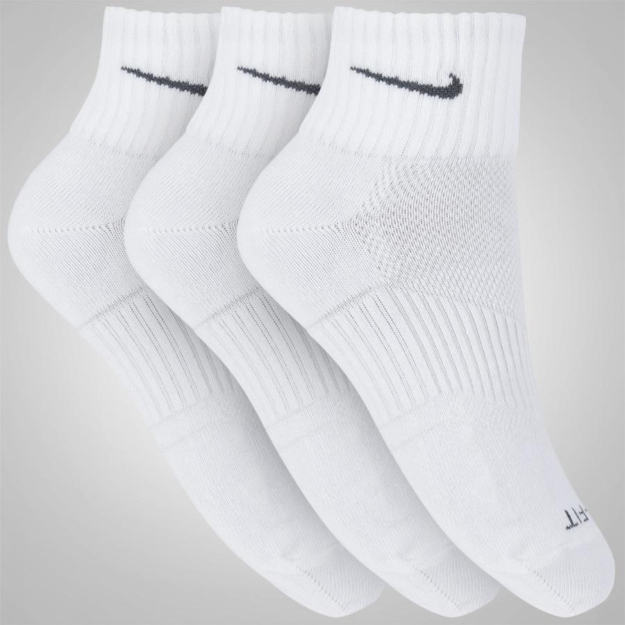 Kit de Meia Nike Dri Fit Lightweight Lightweight Fit QTR com 3 Pares Adulto 6e75ca