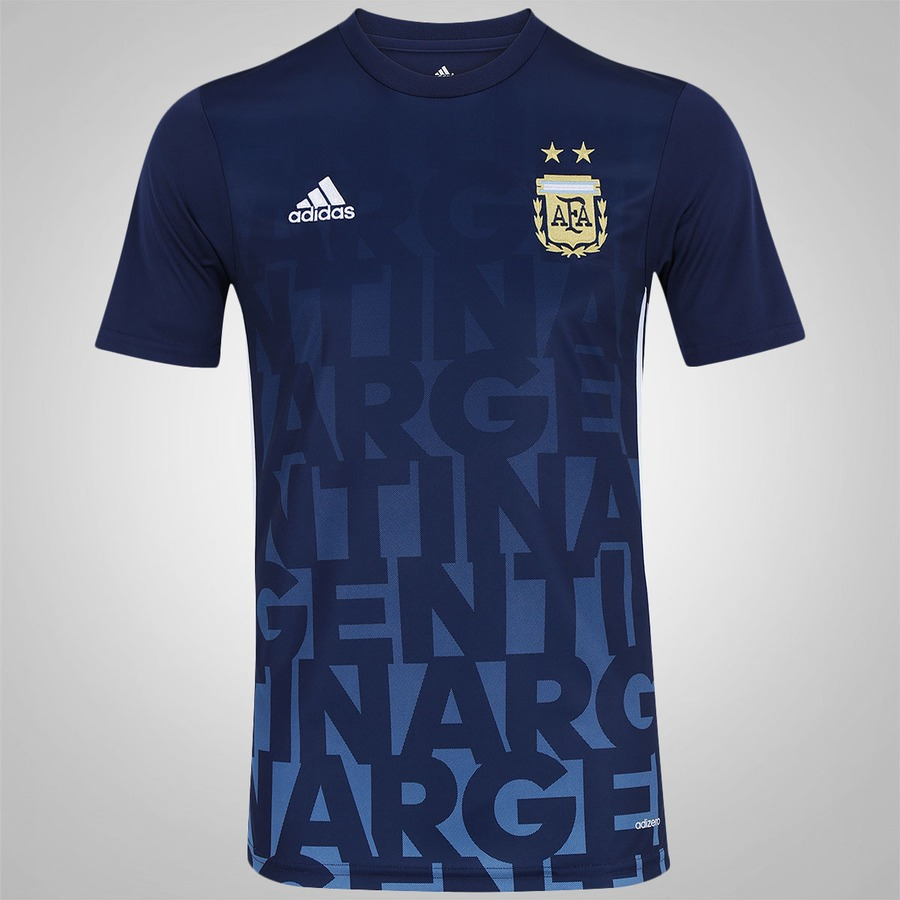 4002114cf5 Camisa Pré-Jogo da Argentina 2016 adidas - Masculina