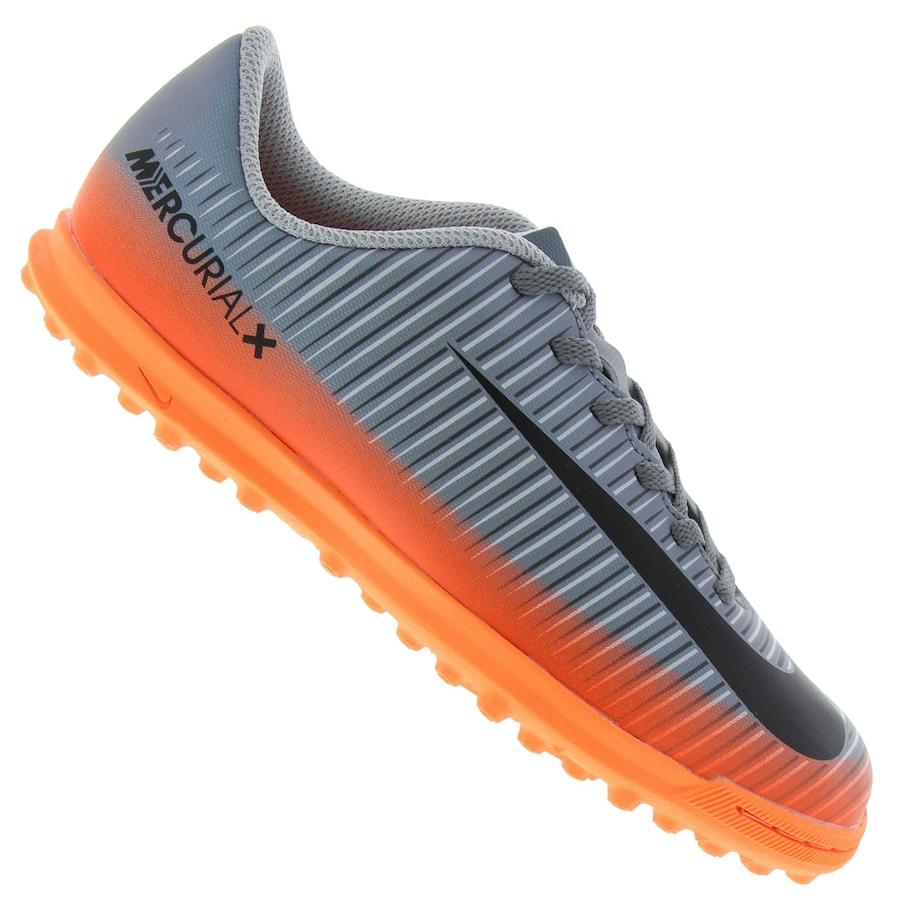 Chuteira Society Nike MercurialX Vortex III CR7 TF Infantil e4e5f850ea03b