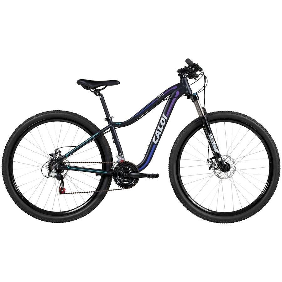 2e99c4c1f Mountain Bike Caloi Lotus - Aro 29 - Freio a Disco - 21 Marchas - Feminina