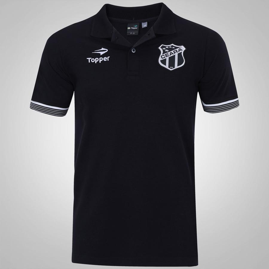 f892741fa Camisa Polo do Ceará Viagem 2016 Atleta Topper - Masculina