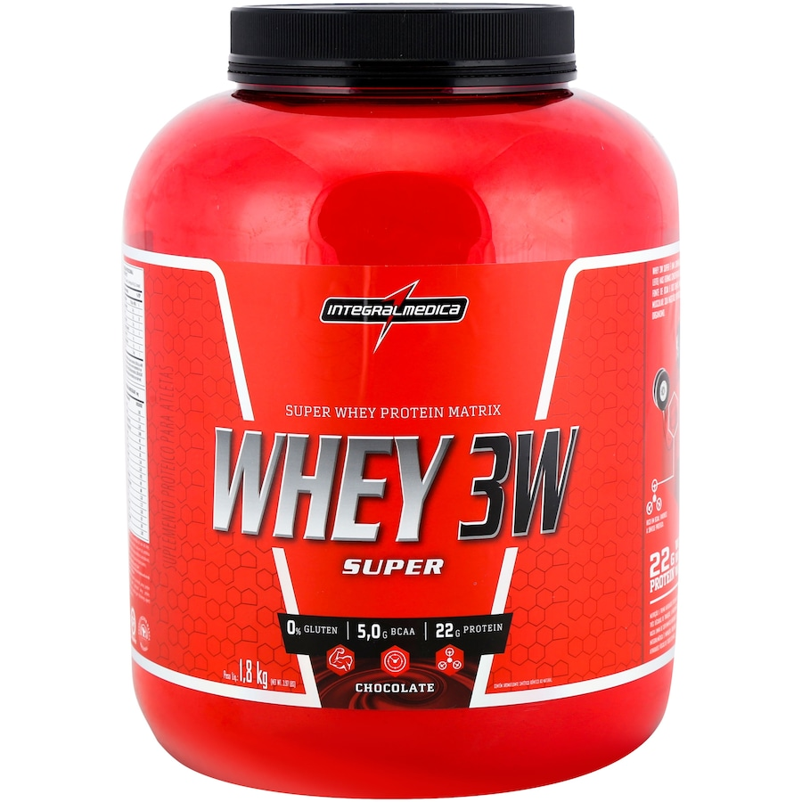 Whey Protein Integralmédica Chocolate 3W Super - 1,8Kg