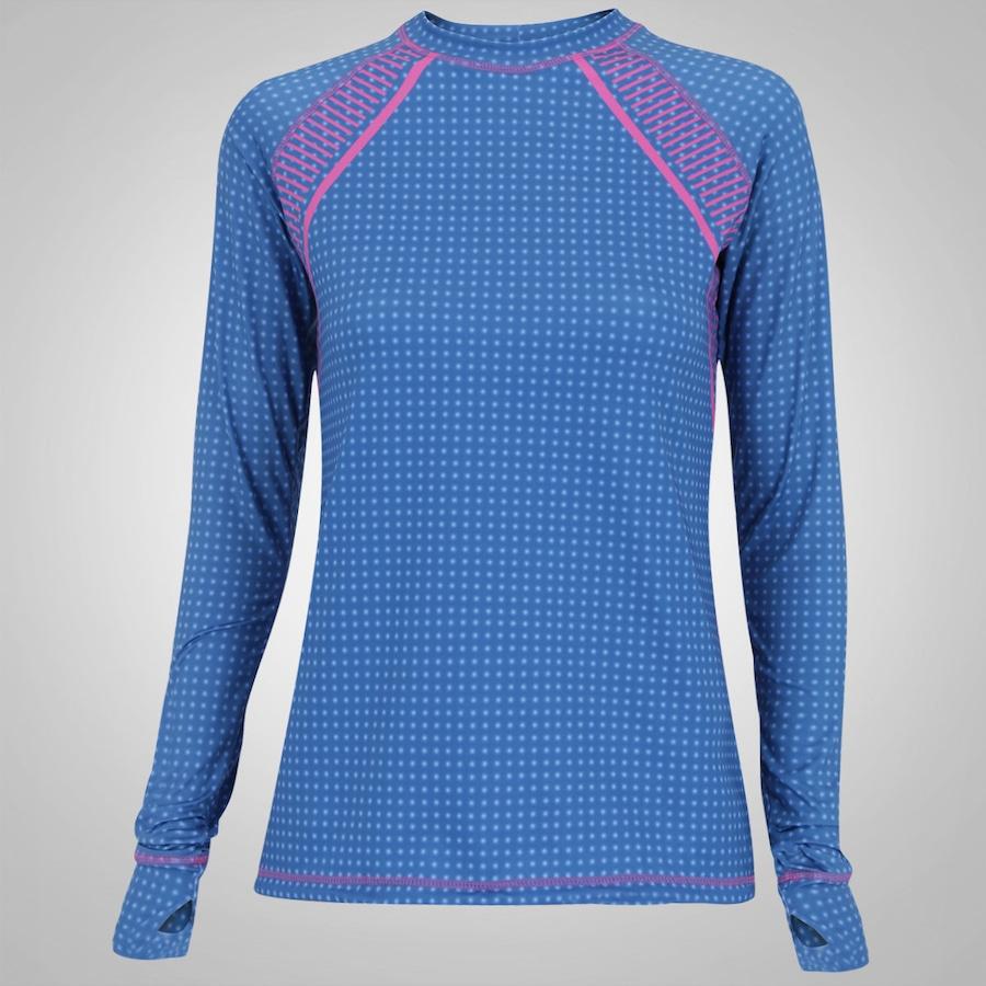 Camiseta Manga Longa com Proteção Solar UV Line Acqua Tech Indigo - Feminina  ... 7f250071910de