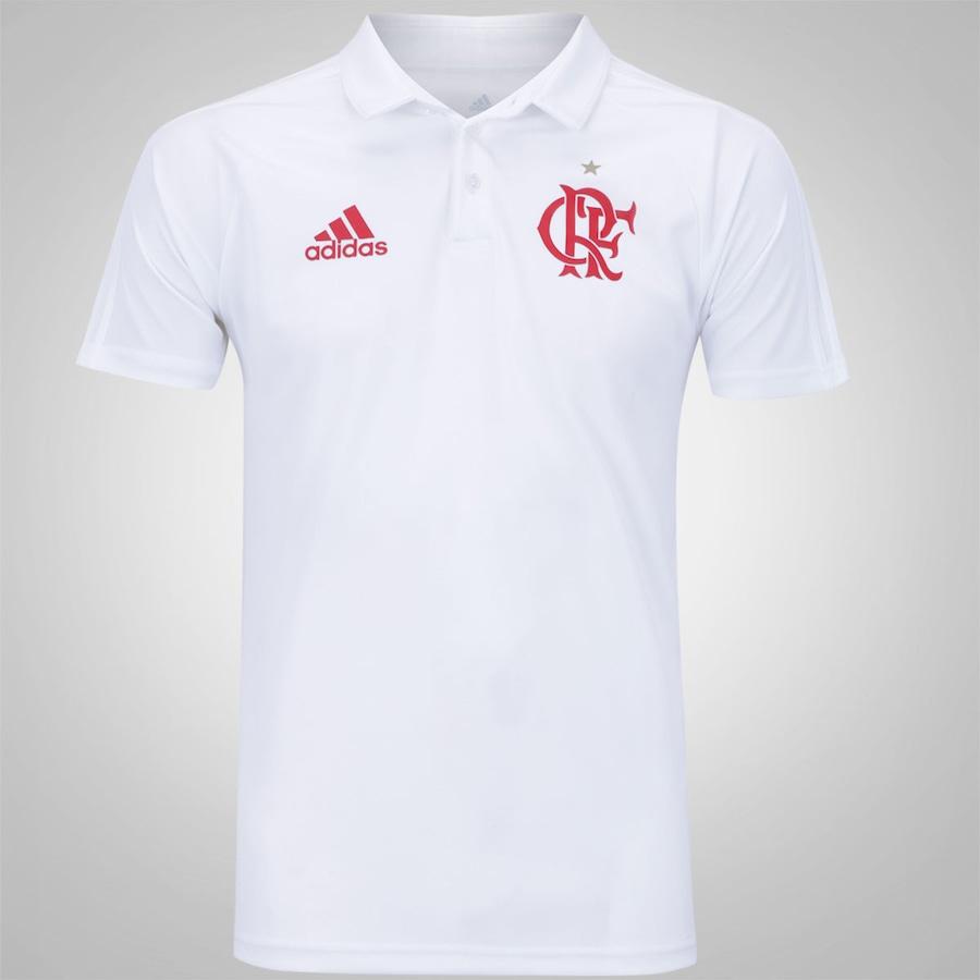 Camisa Polo de Viagem do Flamengo 2017 adidas - Masculina 3d29eef33ff24