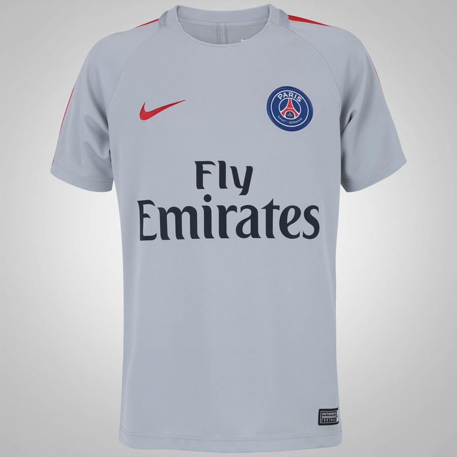 Camisa de Treino PSG 16 17 Nike com Patrocínio - Infantil 1ddc186dc19f1