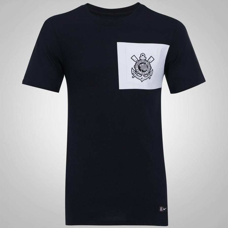 Camiseta do Corinthians Crest Nike com Bolso - Masculina 1d8abe033039a