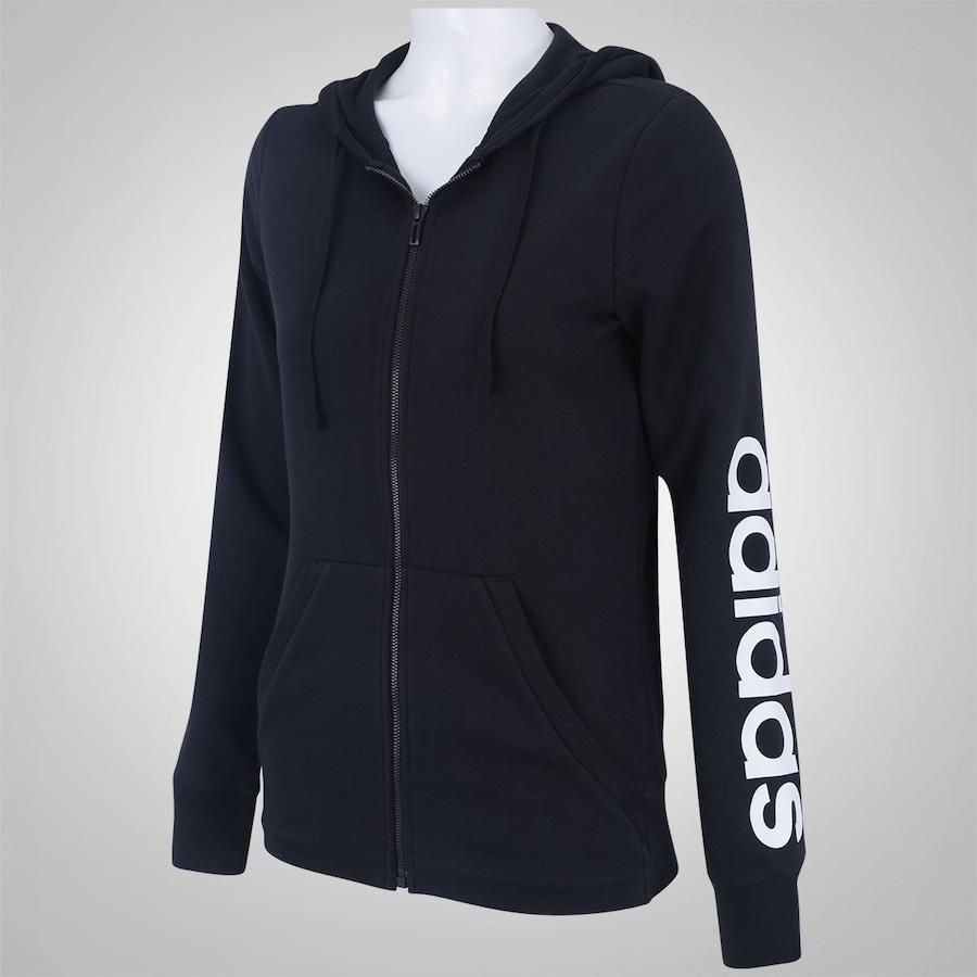 ... Jaqueta de Moletom com Capuz adidas Essentials Linear - Feminina ... b5eddb7c8d9df
