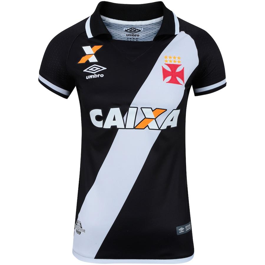 Camisa do Vasco da Gama I 2017 Umbro - Feminina e09f122451a19