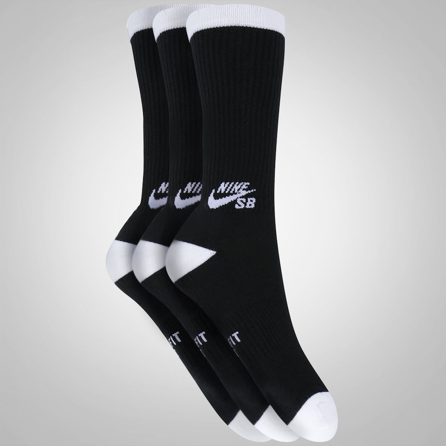 Kit de Meias Nike SB Crew com 3 Pares - Adulto 825b11d70a919