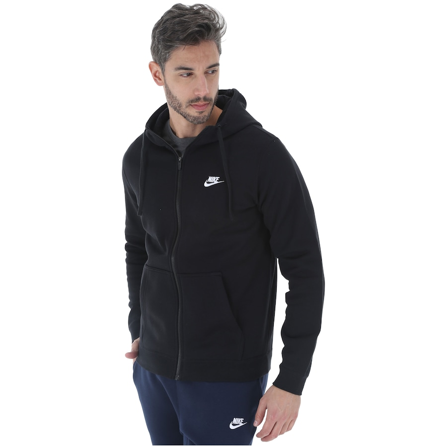 Jaqueta de Moletom com Capuz Nike Hoodie FZ FLC Club - Masculina f51e777264157