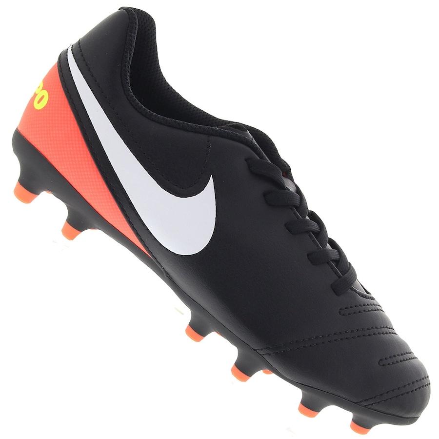 2921b64498 Chuteira de Futebol Campo Nike Tiempo Rio III FG - Infantil