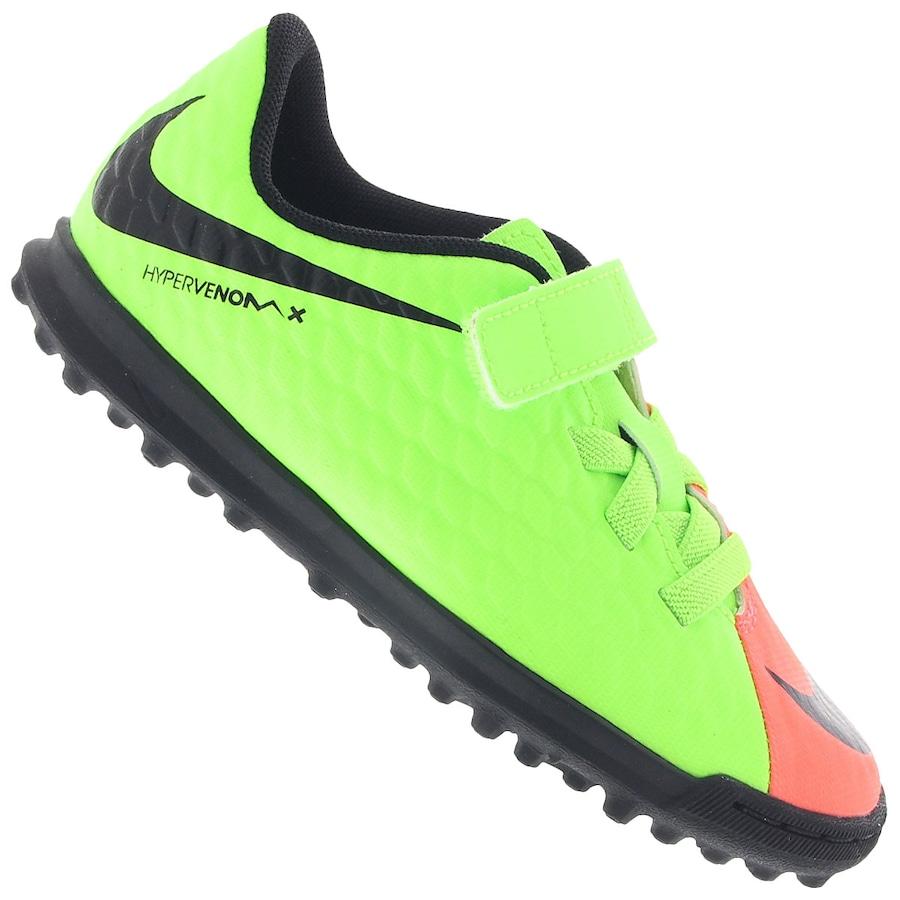 Chuteira Society Nike Hypervenom X Phade III V TF Infantil 056858408dab5