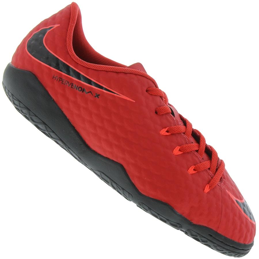 Chuteira Futsal Nike Hypervenom X Phelon III IC - Infantil a02a03390829c