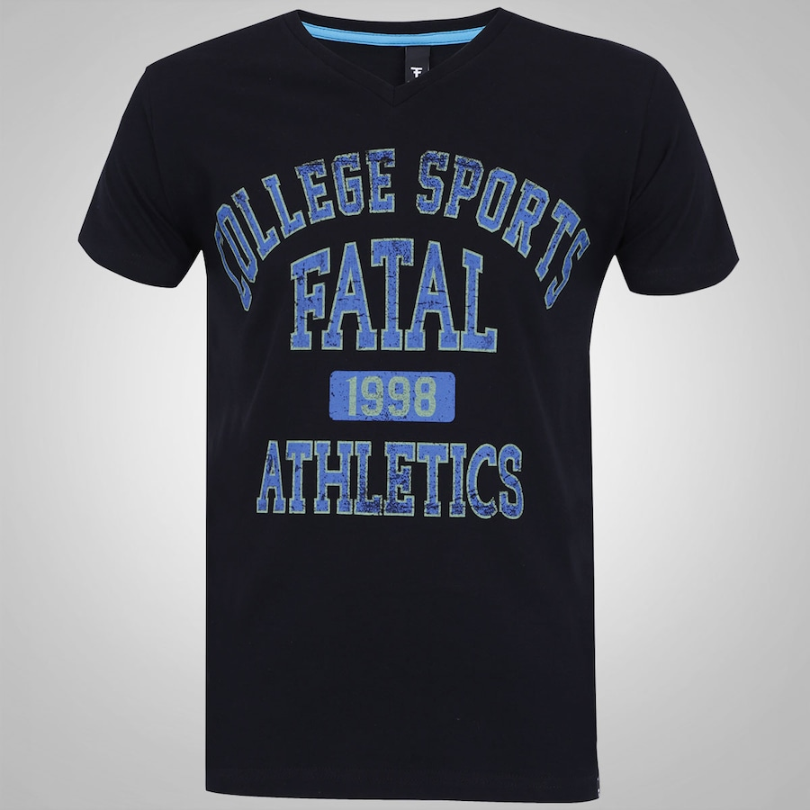 dabd31a485476 Camiseta Fatal Slim Gola V - Masculina