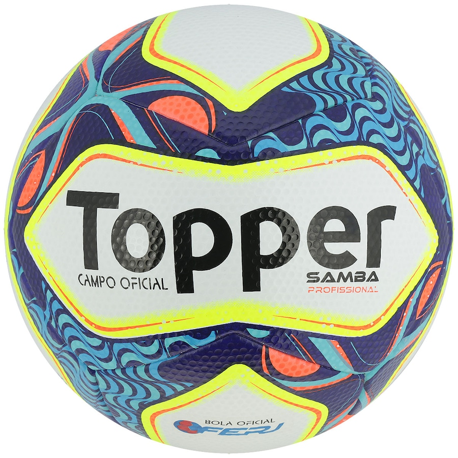 f3c117df1b749 Bola de Futebol de Campo Topper Samba RJ Pro 17