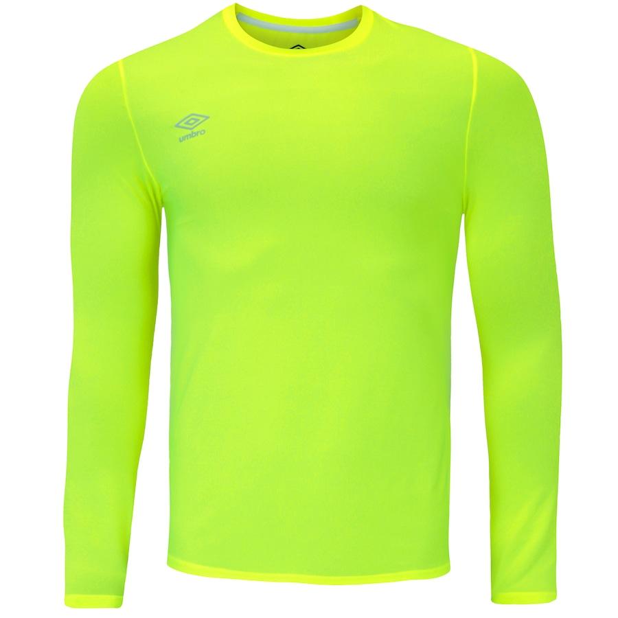 Camiseta Manga Longa com Proteção Solar UV Umbro Basic a823bbb20b686