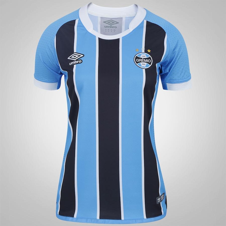 Camisa do Grêmio I 2017 Umbro - Feminina 3d3e1bb4204ba