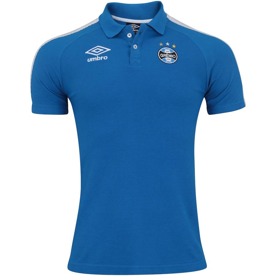 Camisa Polo de Viagem do Grêmio 2017 Umbro - Masculina 147842bc33a88