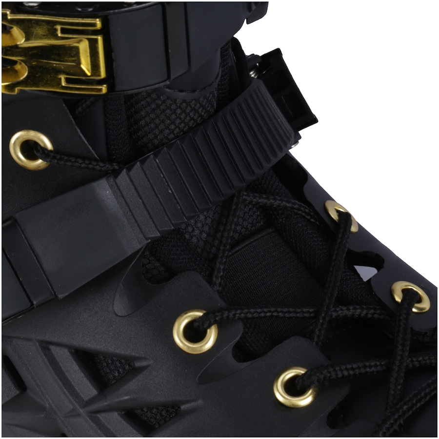269fa3071d0 Patins Oxer Darkness Gold - In Line - Freestyle - ABEC 7 - Base de Alumínio  - Adulto