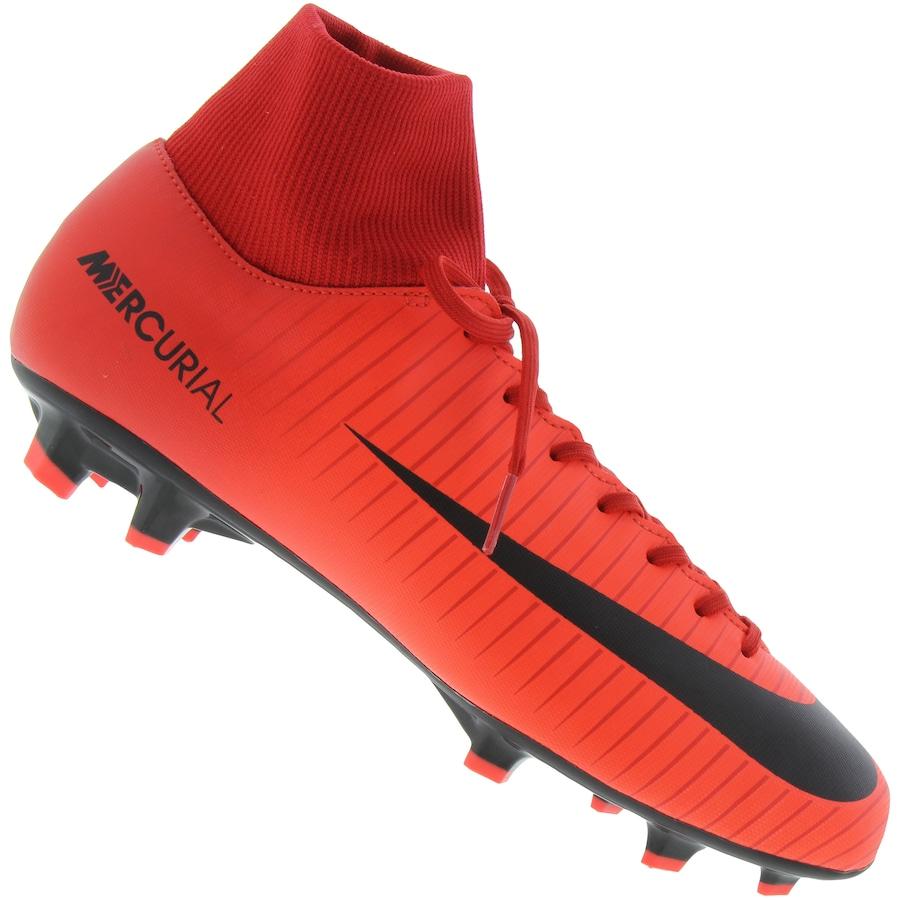 Chuteira de Campo Nike Mercurial Victory VI DF FG - Adulto aa447cef4f313