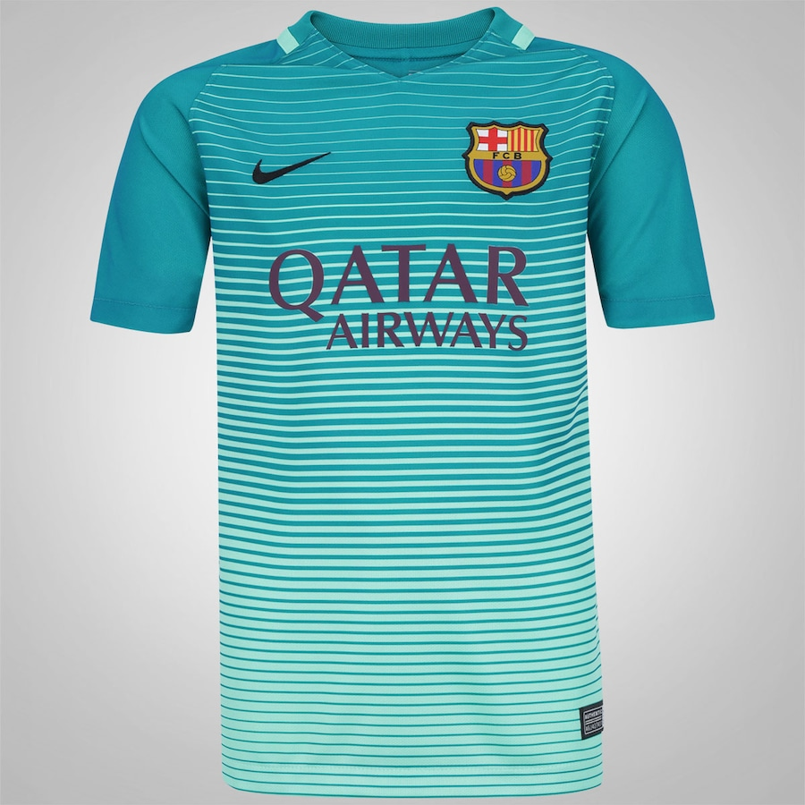 Camisa Barcelona III 16 17 Nike com Patrocínio - Infantil 13e504d704e92