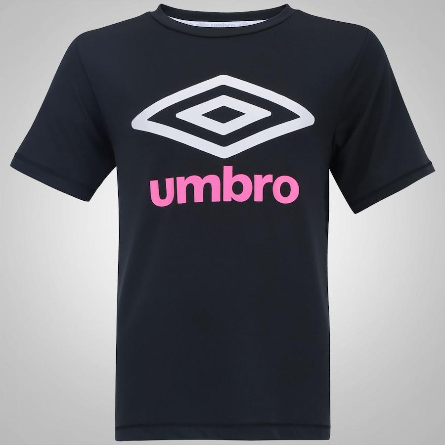 Camiseta com Proteção Solar UV Umbro Basic - Infantil bf49895a0ab