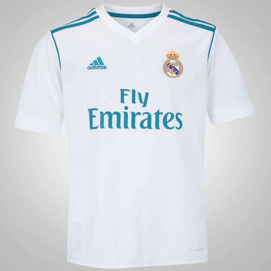 6ff00f32c7 Camisa Real Madrid I 17 18 adidas - Infantil