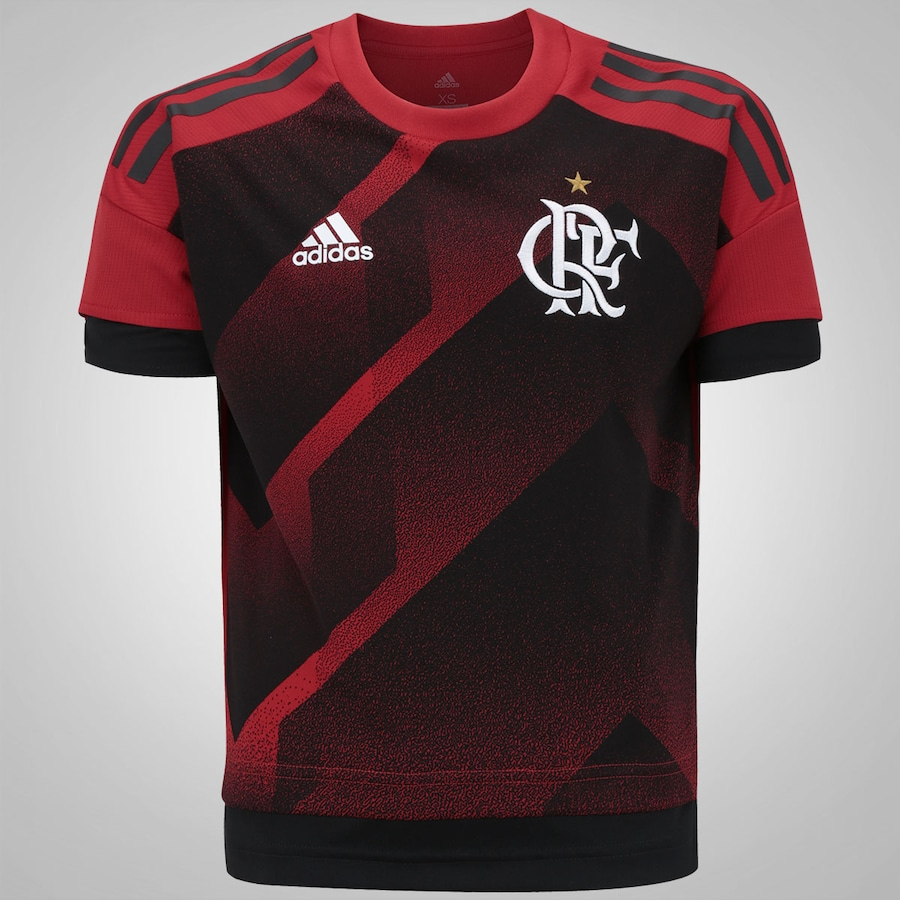Camisa Pré-Jogo do Flamengo 2017 Longline adidas - Infantil 72706f41168a2