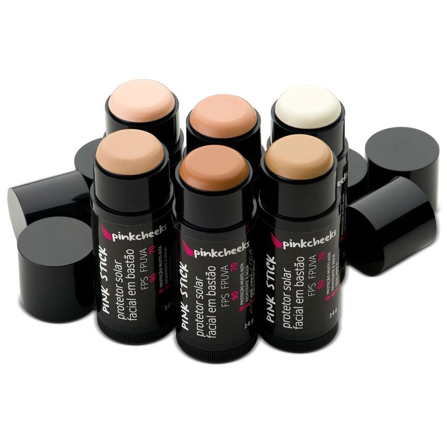 fbceee56e ... Protetor Solar Facial com Base Pink Cheeks Pink Stick 42Km - FPS 90 -  FPUVA 70