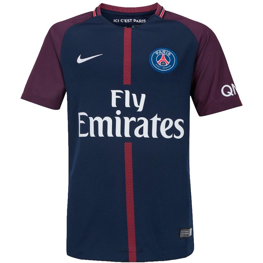 446582730 Camisa PSG I 17 18 Nike - Infantil