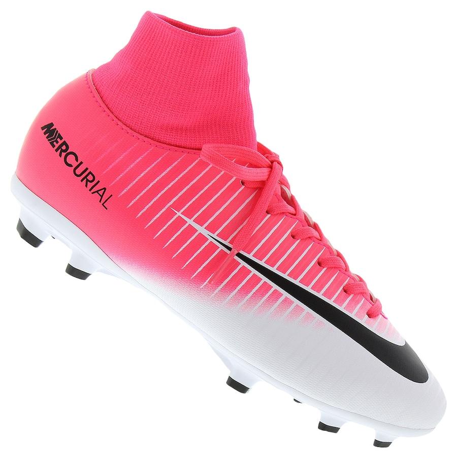 Chuteira de Campo Nike Mercurial Victory VI DF FG Infantil 3983d6888c241