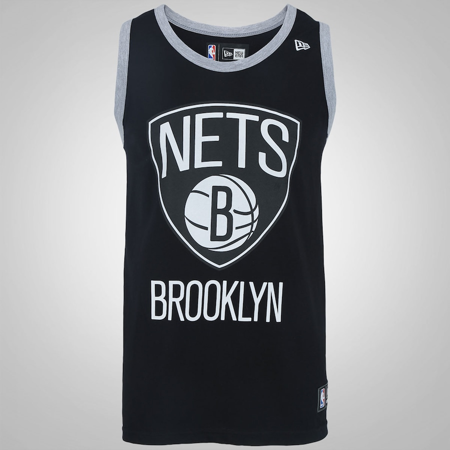18dd3ede4 Camiseta Regata New Era Brooklyn Nets Basic Logo Masculina