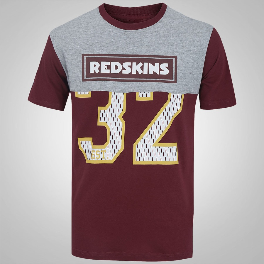 Camiseta New Era Washington Redskins Crop Numbers - Masculina . 1a7e2f63590b7