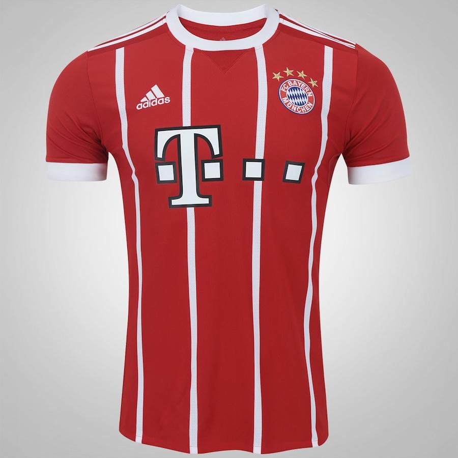 Camisa Bayern de Munique I 17 18 adidas - Masculina 473f7afbbd041