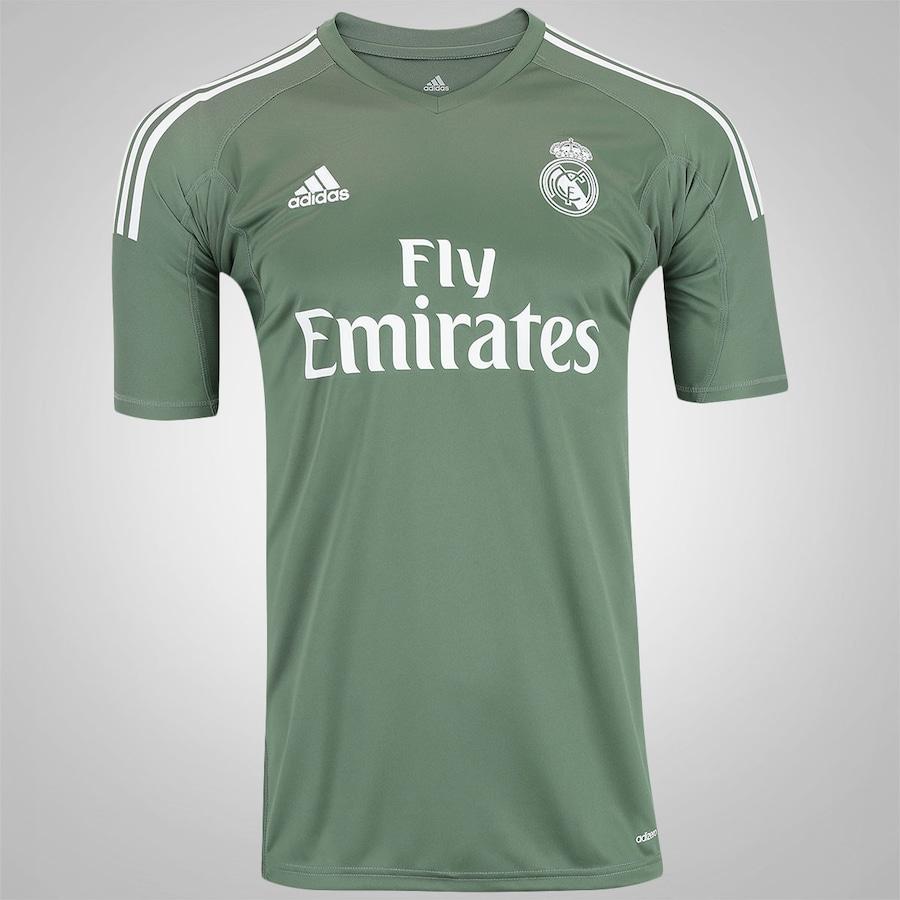 Camisa de Goleiro Real Madrid 17 18 adidas - Masculina 614cc688e1fd8
