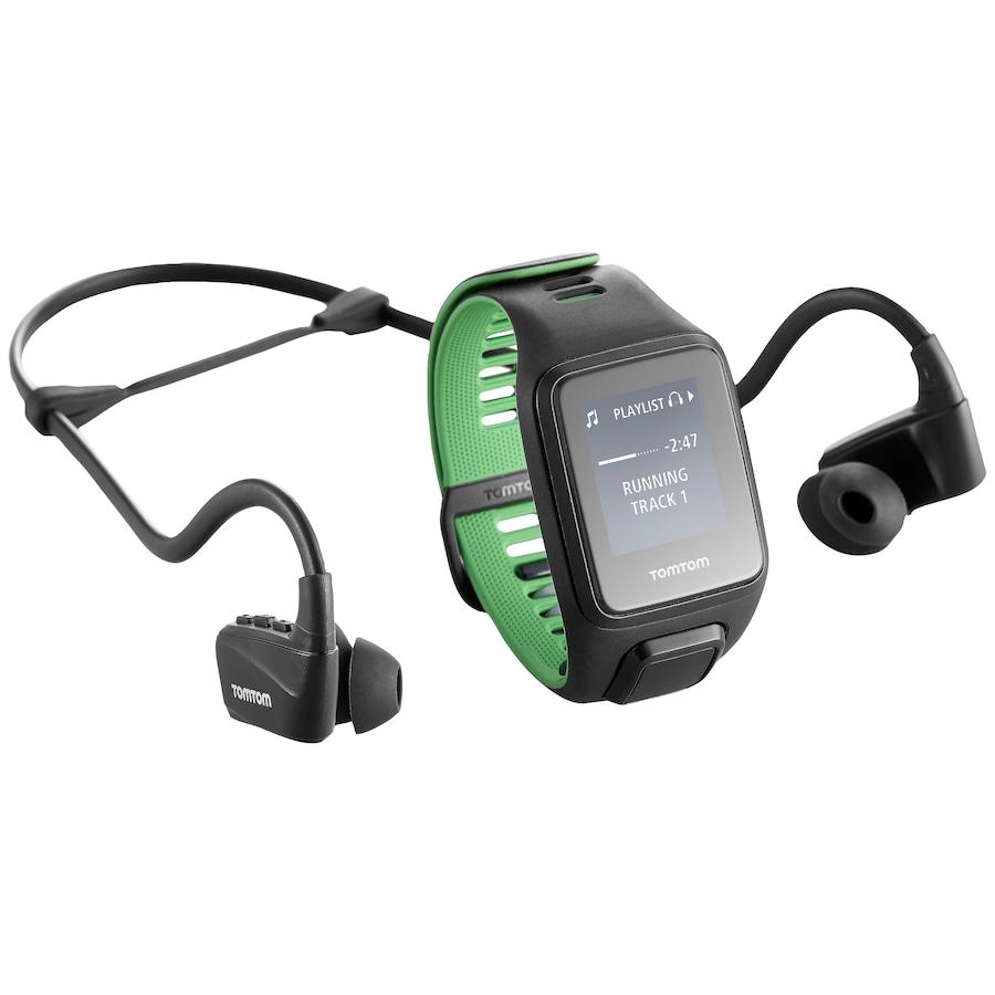 3cb01ab1f08 Monitor Cardíaco com GPS e Fone de Ouvido Tomtom Runner 3 Music