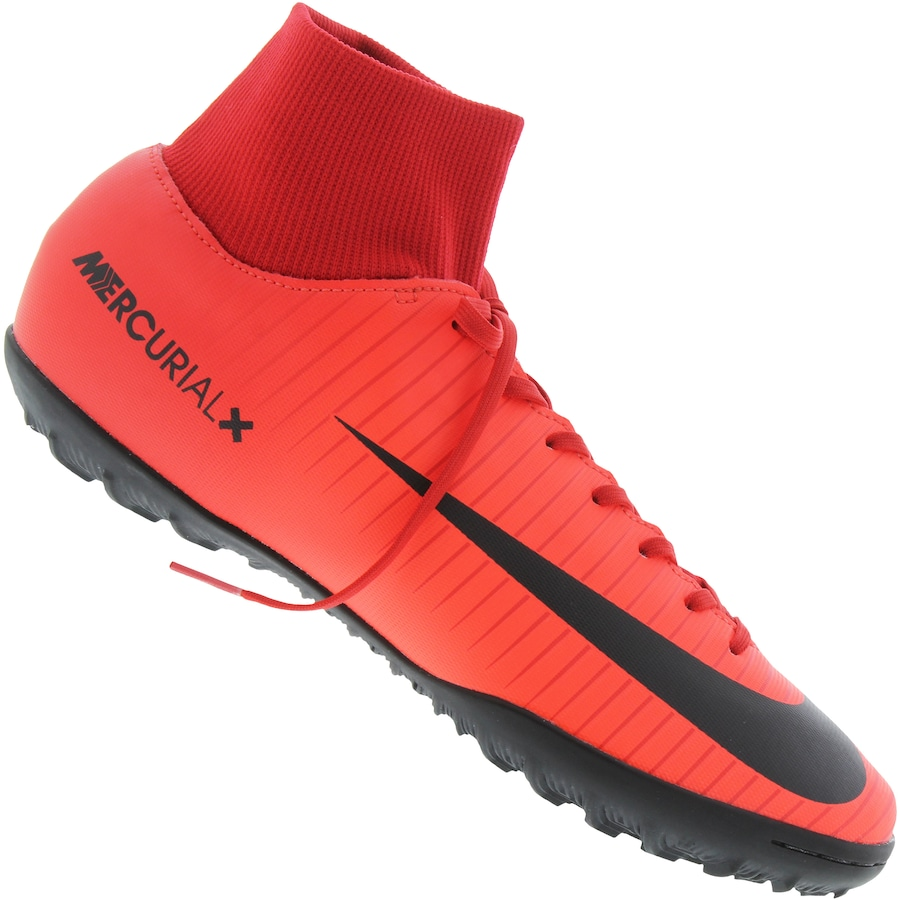 4b5663299e Chuteira Cano Alto Society Nike Mercurial X Victory VI DF