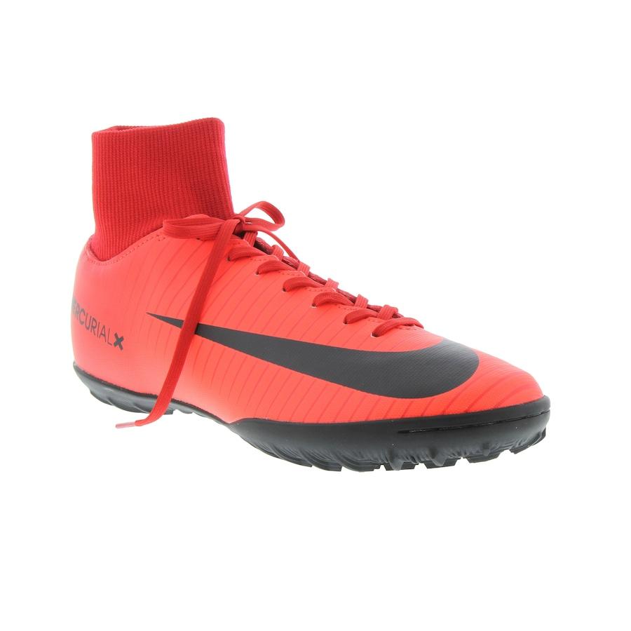 ... Chuteira Society Nike Mercurial X Victory VI DF TF - Adulto ... 652a3d5a58035