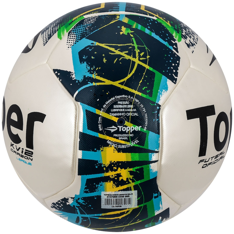 f0ffbb705e Bola de Futsal Topper KV Carbon League