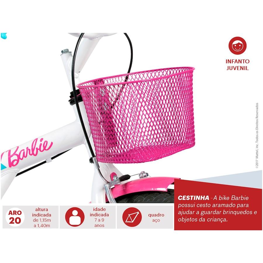 Bicicleta Caloi Barbie 20 9e034bfa90c