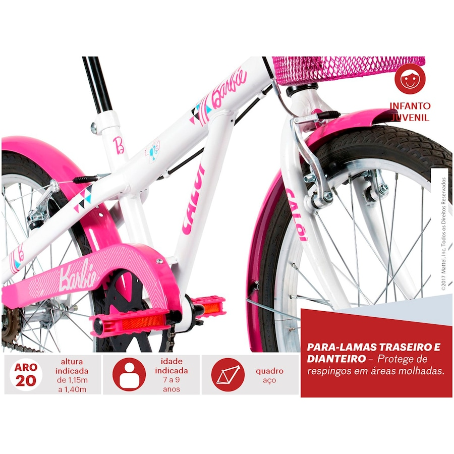 57a13bdcc Bicicleta Caloi Barbie 20