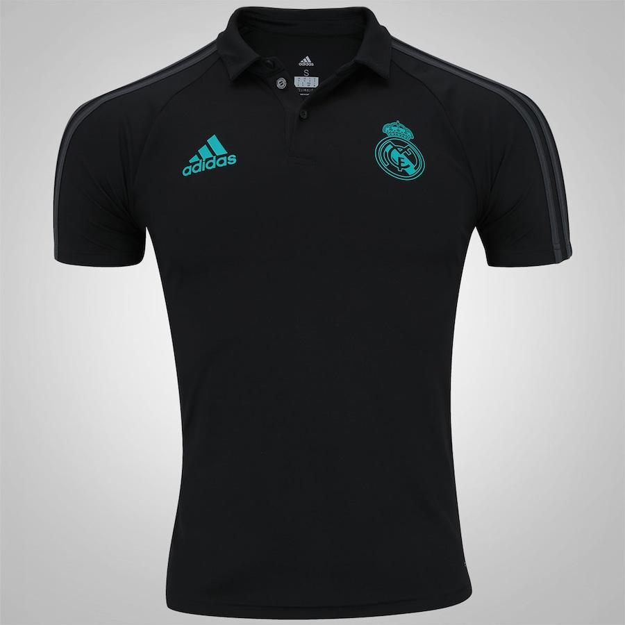 Camisa Polo Real Madrid Viagem 17 18 adidas - Masculina 190d4a25a43