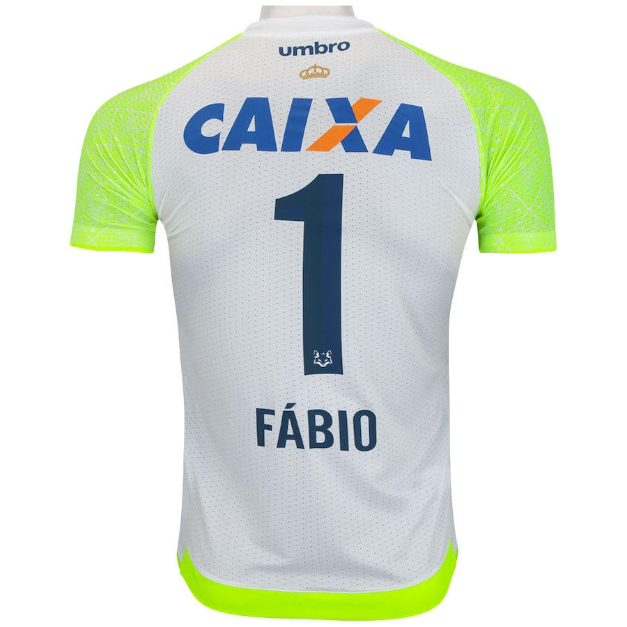b5dbc612db ... Camisa de Goleiro do Cruzeiro 2017 Umbro nº 1 Fábio - Masculina ...