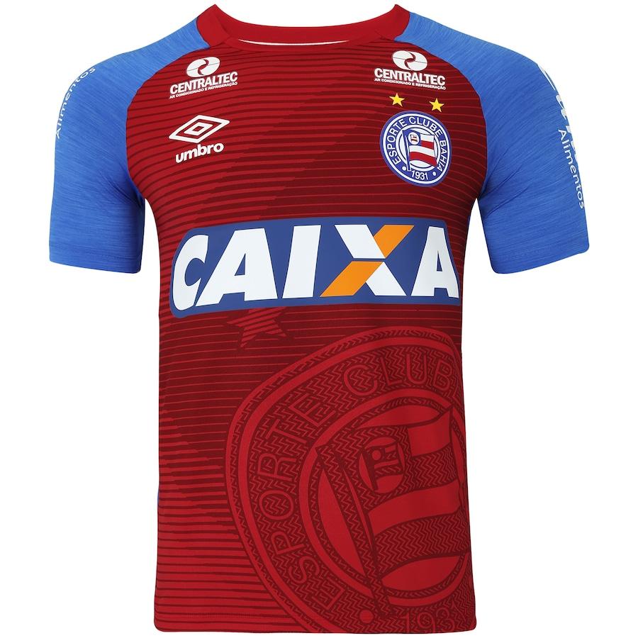 Camisa do Bahia Aquecimento 2017 Umbro - Masculina bca492444b7