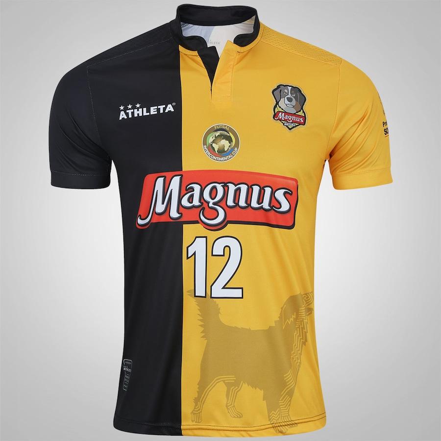 Camisa do Magnus Futsal I 2017 nº 12 Athleta - Masculina 82500681fe3cf