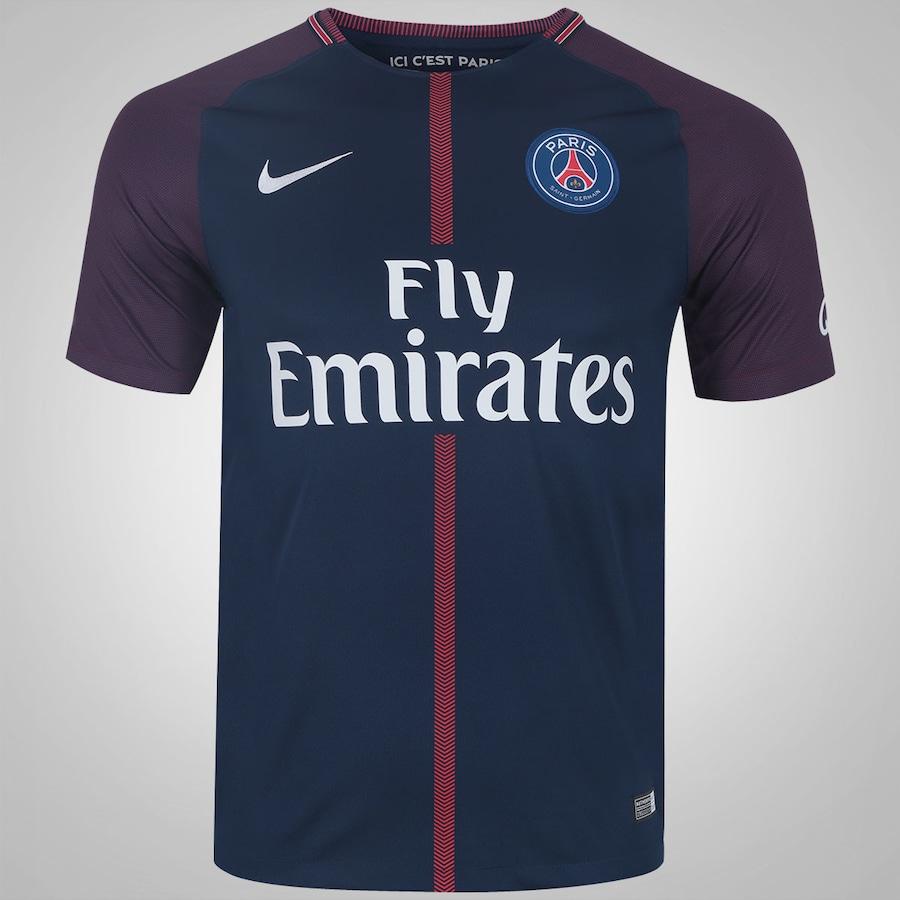 f53cbe567c5d5 Camisa PSG I 17 18 Nike - Masculina