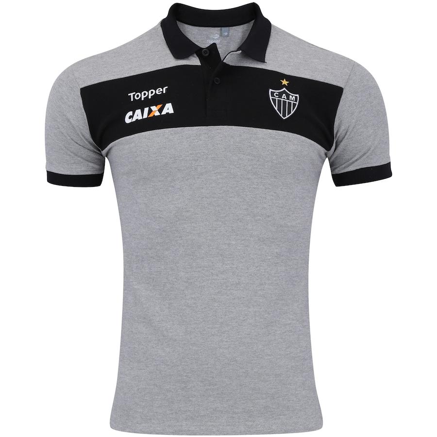 752f8bcaff Camisa Polo do Atlético-MG Viagem 2017 Topper - Masculina