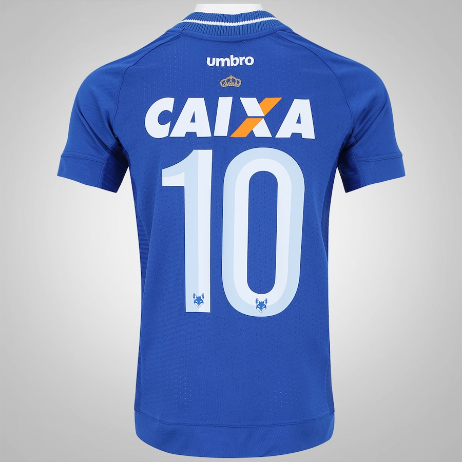 239e95d43be37 Camisa do Cruzeiro I 2017 nº 10 Umbro - Infantil