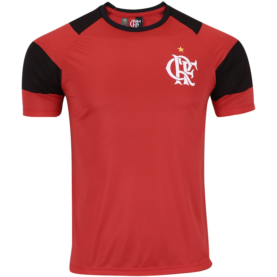 Camiseta do Flamengo Base Raglan - Masculina 584378d675265