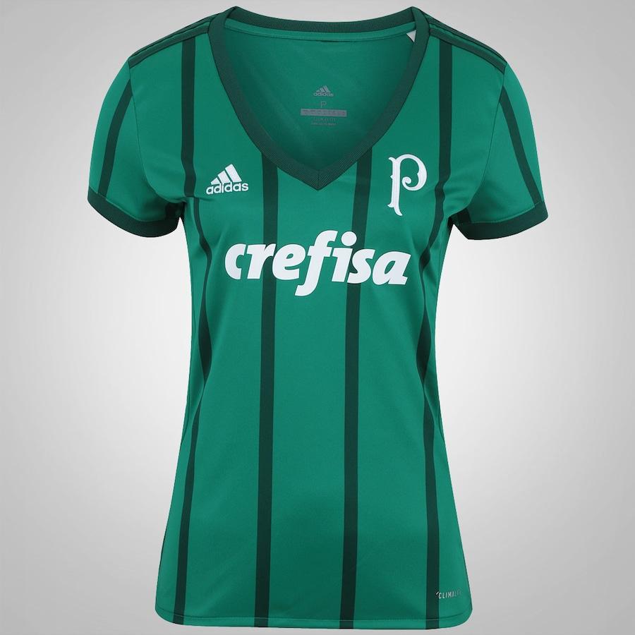 Camisa do Palmeiras I 2017 adidas - Feminina 43b46ca184daa
